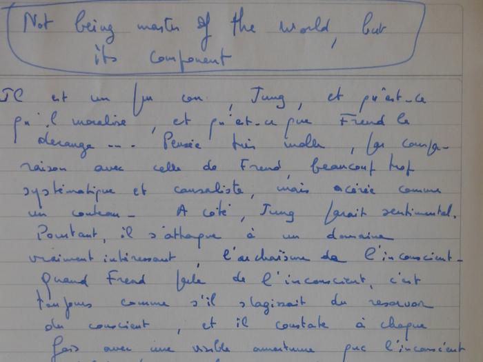 """Extrait de """"The Mind as a concentration camp"""" (MALLE376-B94)"""