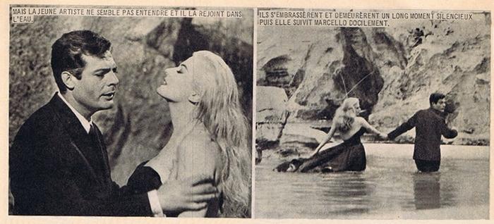 Extrait du roman-photo de La Dolce Vita dans Nous deux Film (n°81, 1960)
