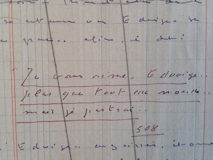 Extrait du scénario manuscrit de Feu ! de J. de Baroncelli (1927)