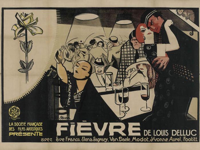 Fievre, de Louis Delluc - Affiche de Bernard Becan