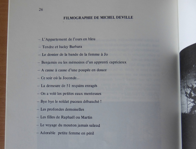 Filmographie réinventée de Michel Deville, dossier de presse de Péril en la demeure.