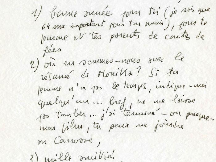 Francois Truffaut à Charles Bitsch - 1963