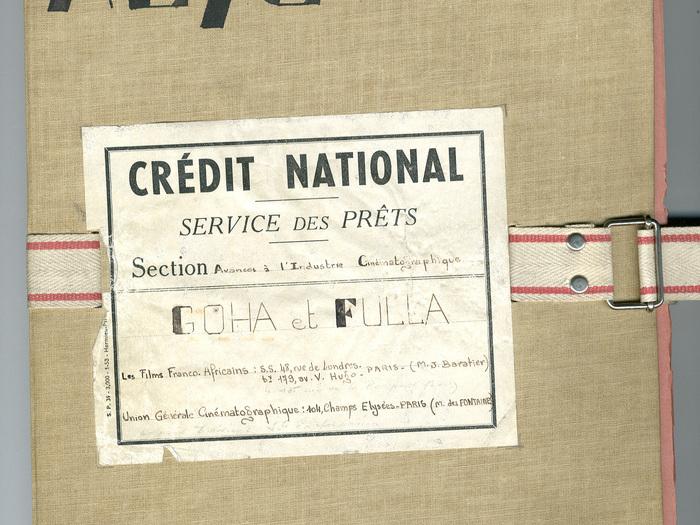 Goha (Jacques Baratier) : dossier du Crédit National