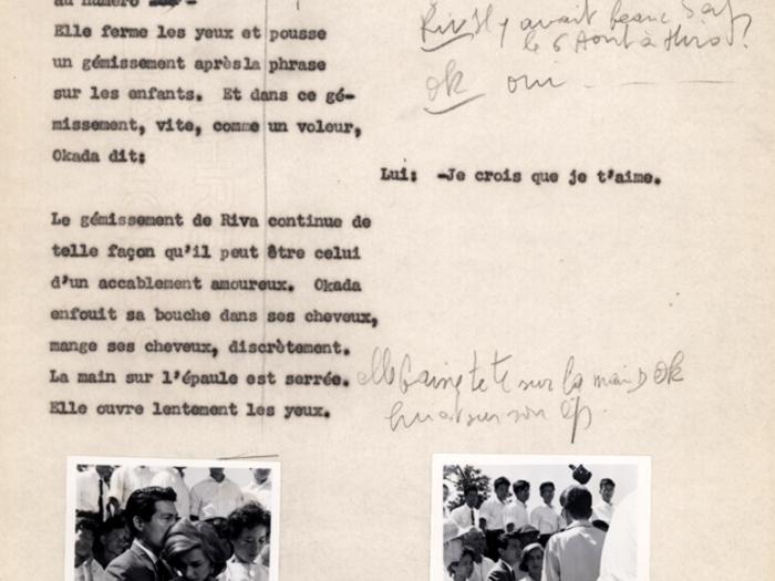 Hiroshima mon amour : carnet n°3 page 158