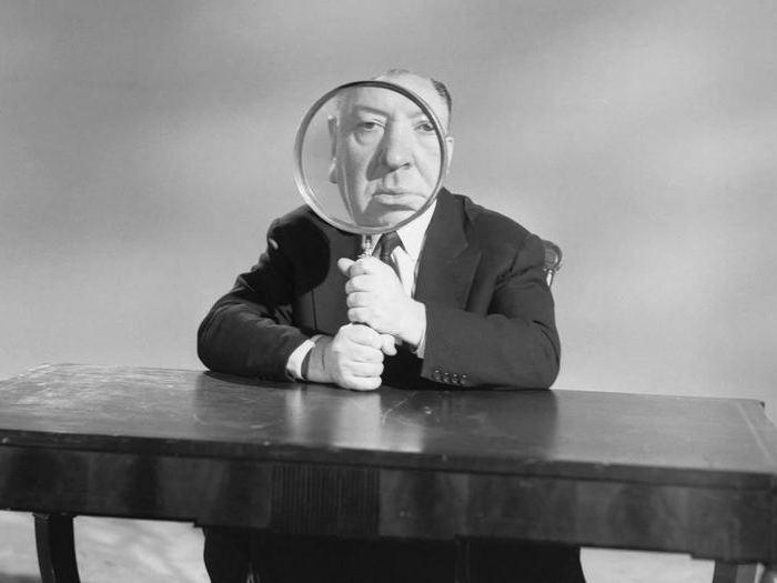 Sur le plateau d'Alfred Hitchcock Presents (Photo Bettmann, 1956)
