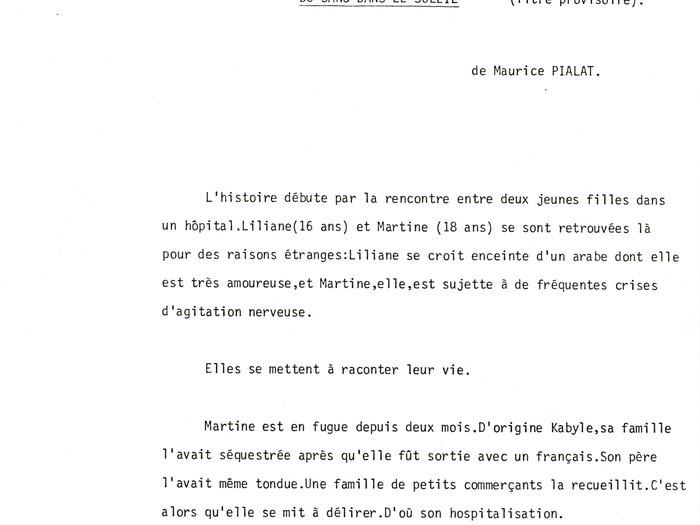 """Projet """"Les Meurtrières"""" : extrait du synopsis"""