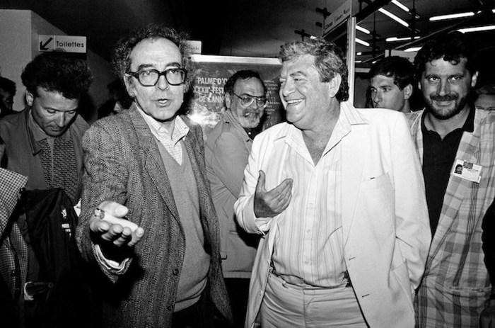 Jean Luc Godard et Menahem Golan à Cannes (1987)