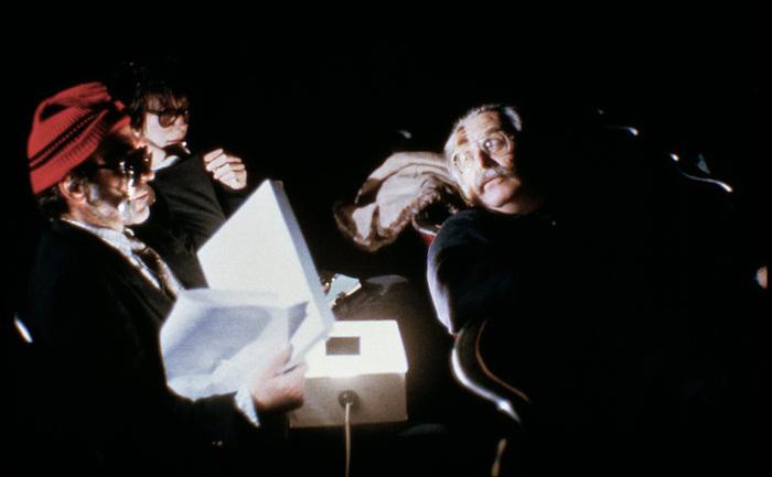 Jean Luc Godard, Michèle Halberstadt et Freddy Buache dans King Lear