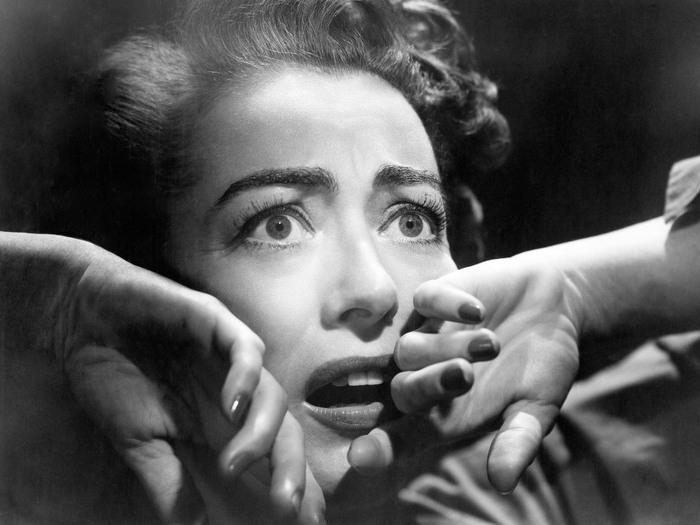 Joan Crawford dans Sudden Fear/Le Masque arraché (David Miller, 1952)