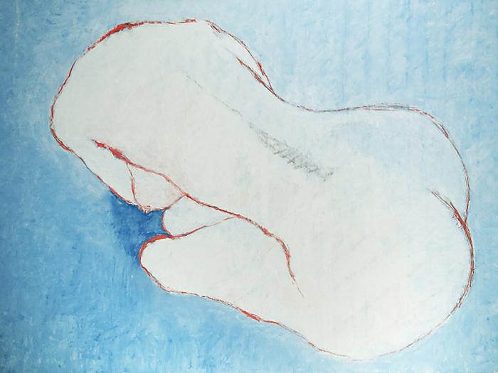 Le tableau de La Belle noiseuse, œuvre du peintre Bernard Dufour