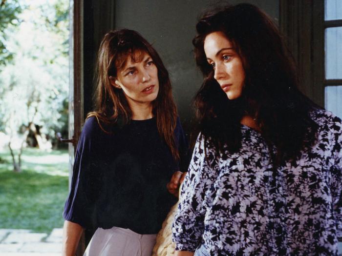 Jane Birkin et Emmanuelle Béart dans La Belle noiseuse, divertimento (Jacques Rivette, 1991)