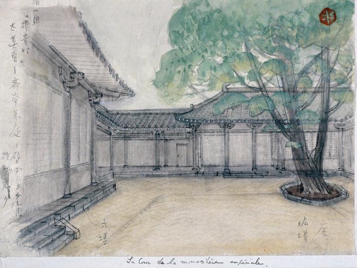 La cour du monastère © Mizutani