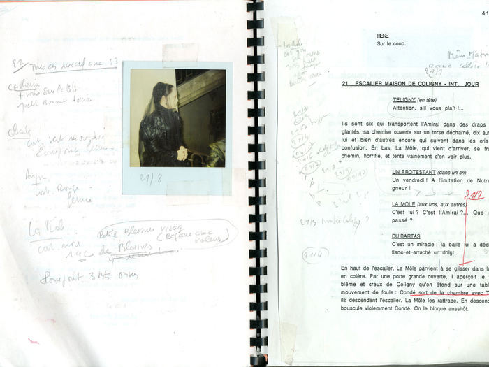 La Reine Margot : scénario de tournage (fonds Suzanne Durrenberger)