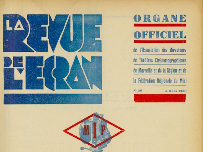 La Revue de l'écran n°26 du 5 mars 1930 (détail)
