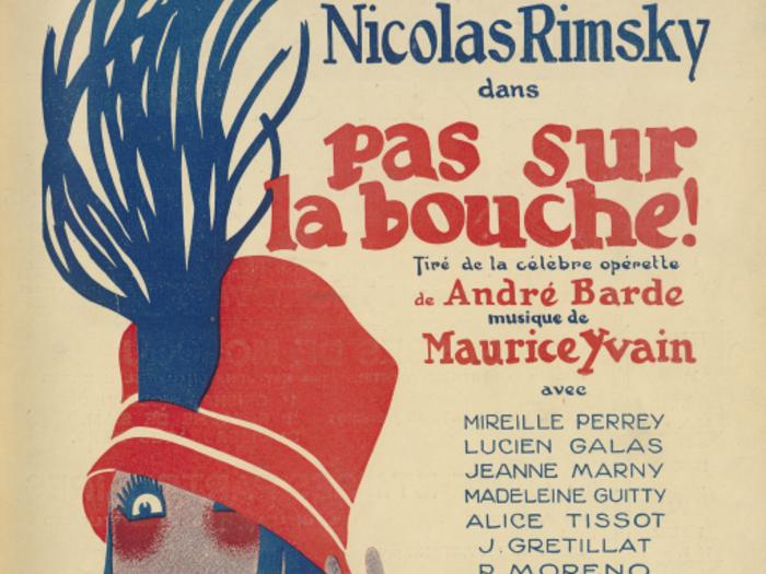 Publicité pour Pas sur la bouche en couverture de La Revue de l'écran n°69 du 3 décembre 1932