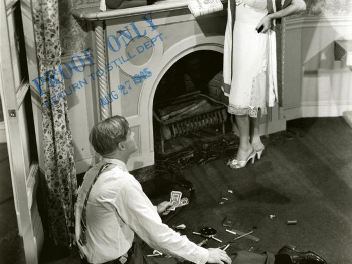 La Rue rouge (Fritz Lang) : Photographie de plateau avec Dan Duryea et Joan Bennett