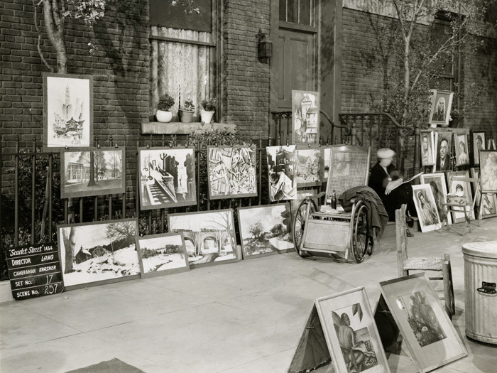 La Rue rouge (Fritz Lang) - Photo de décor du marché de l'art