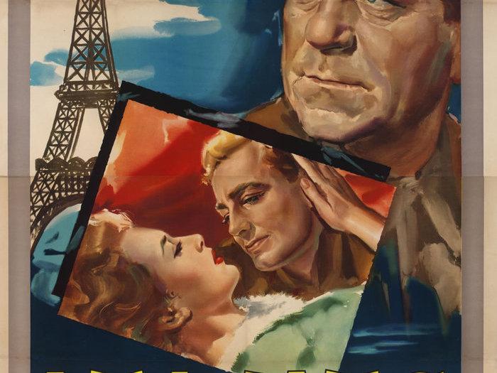 Affiche d'Angelo Cesselon pour la sortie en Italie, 1954 ©ADAGP Paris 2019. Cote de numérisation AA253-053