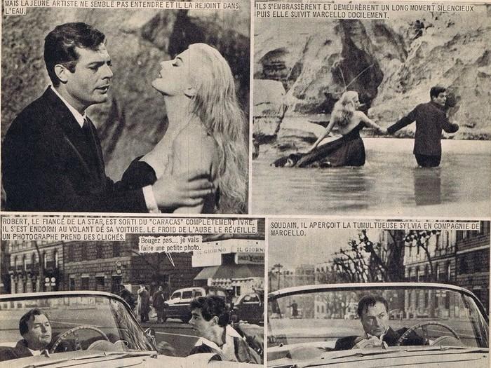 Le roman-photo de La dolce vita dans Nous Deux Film (n°81, 1960)