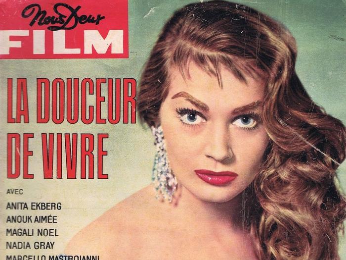 Le roman-photo de La dolce vita en couverture de Nous Deux Film (n°81, 1960)