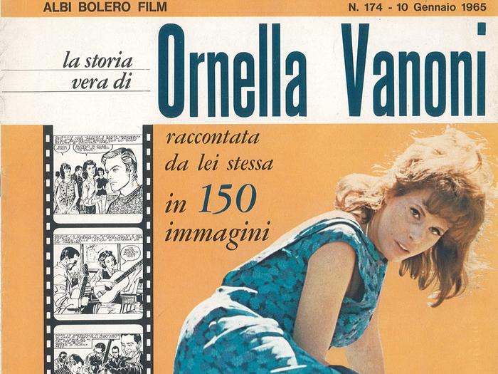 Le roman-photo d'Ornella Vanoni en couverture de Bolero Film (n°174, 10 janvier 1965)