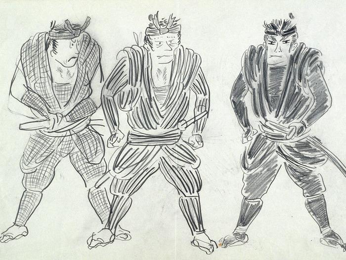 Les 7 Samourais Dessin de Akira Kurosawa