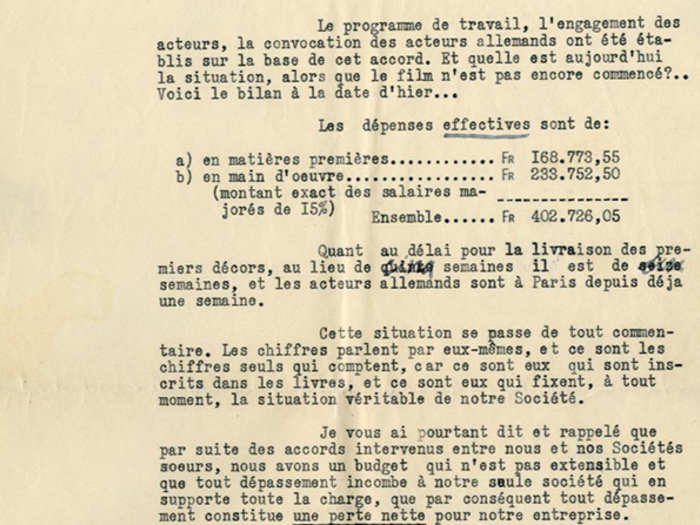 Lettre de Georges Lourau à Lazare Meerson, page 2, fonds Meerson