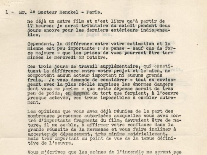 Lettre de Jacques Feyder au Dr Henckel, 16 octobre 1935, page 2