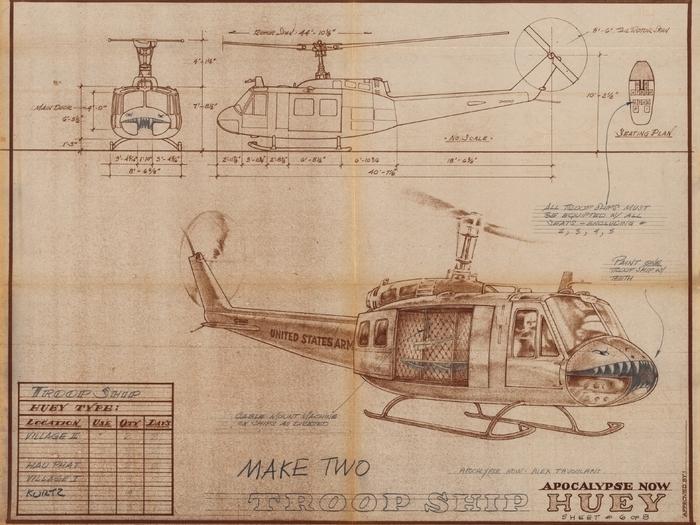 L'hélicoptère Huey d'Apocalypse Now