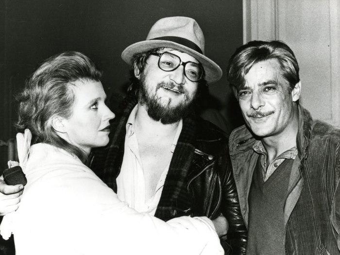 "Hanna Schygulla, Fassbinder et Giancarlo Giannini sur le tournage de ""Lili Marleen"" (1980)"