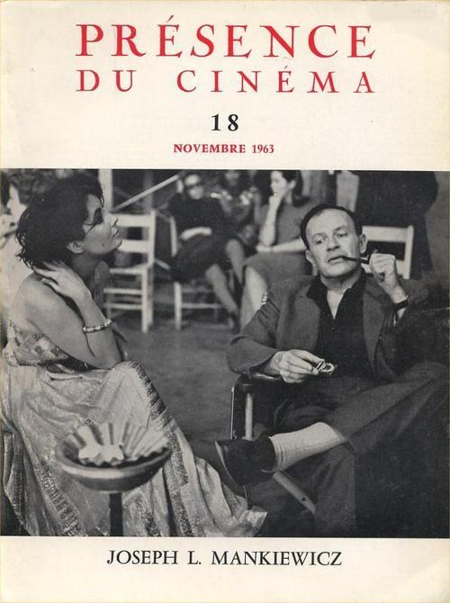 Liz Taylor et Joseph L. Mankiewicz en Une de Présence du cinéma (1963)