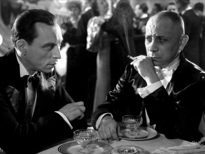 Louis Jouvet et Erich von Stroheim dans L'Alibi de Pierre Chenal