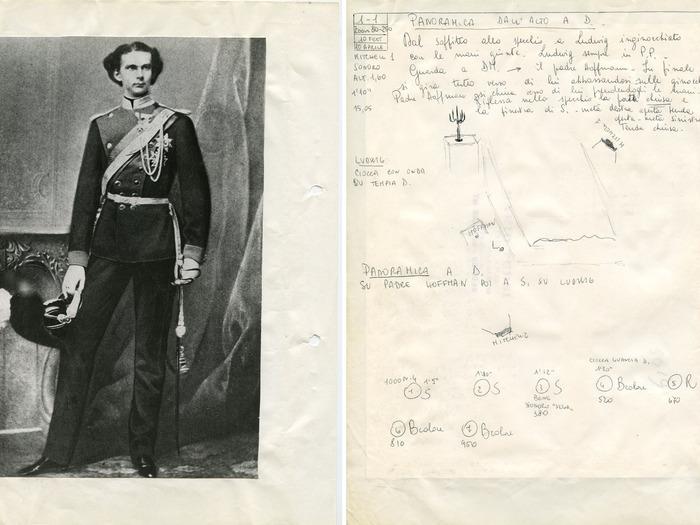 Scénario de Ludwig annoté par la scripte Renata Franceschi