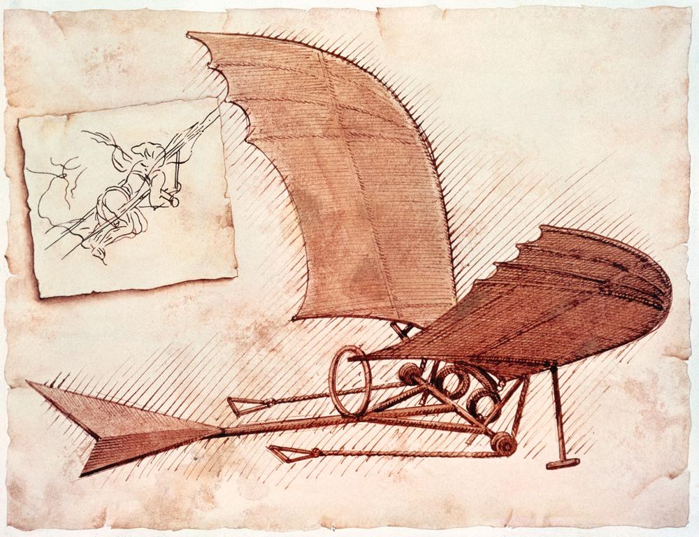 Machine Volante de Leonard De Vinci (1490 )