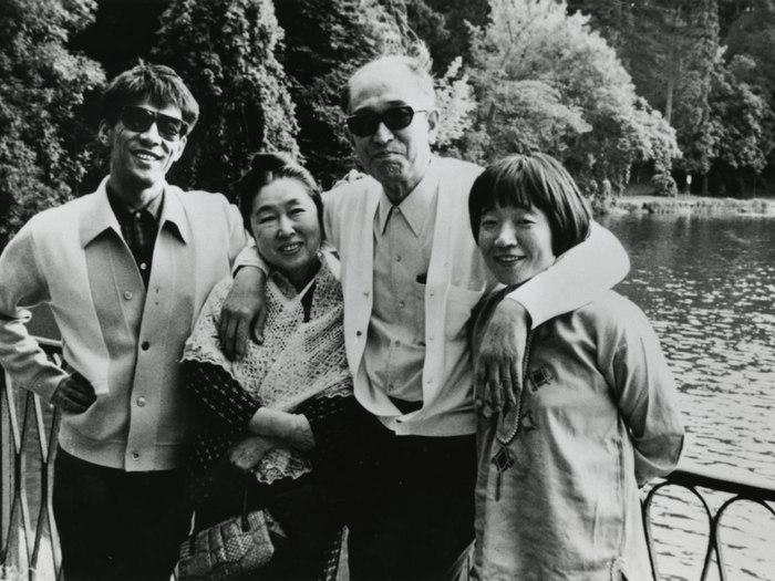 Madame Kawakita, Kurosawa et Hiroko Govaers à Ville d'Avray en 1972