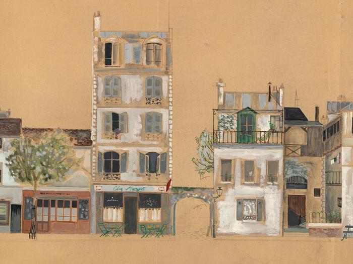 Maquette de décor pour le film Mon Oncle de Jacques Tati