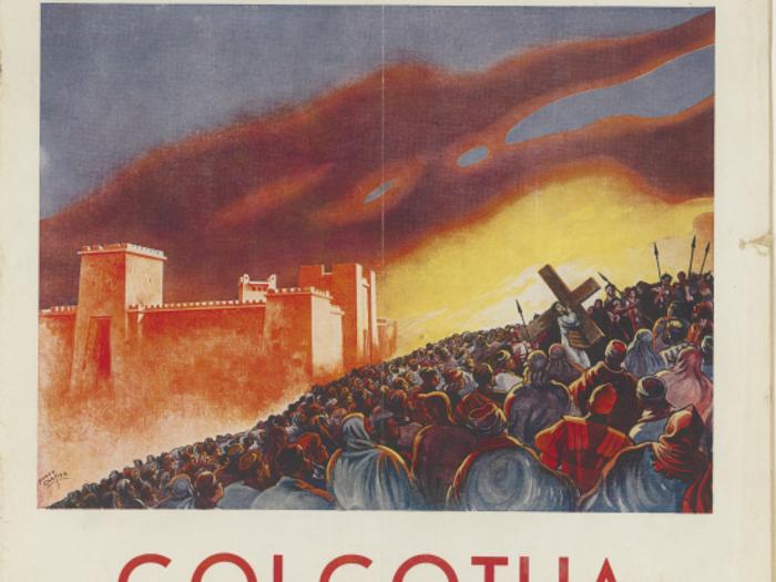 Publicité pour Golgotha en couverture de La Revue de l'écran n°143 du 19 avril 1935