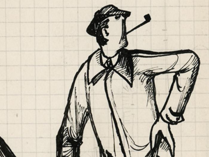 Monsieur Hulot, dessin de Pierre Étaix