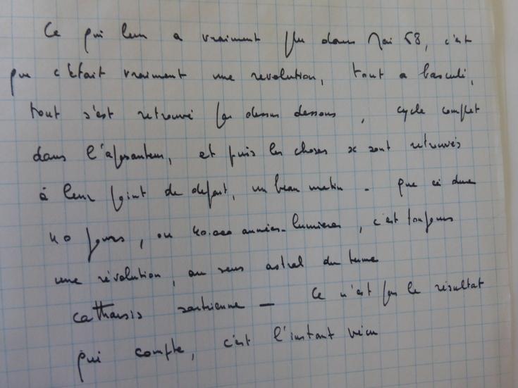 Note de Louis Malle sur mai 68 (MALLE376-B94)