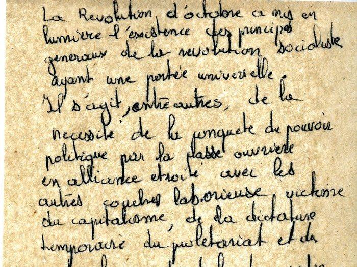 """Notes autour du pouvoir politique et du capitalisme (Archives GOUPIL 52 B10 – [Projet """"Oui Mai""""] : """"notes"""")"""