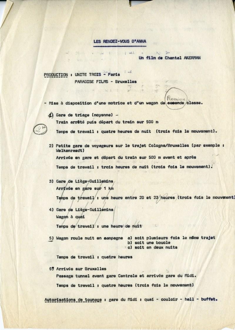 Notes de production (GOUPIL 35-B6)