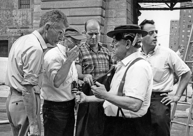 """Samuel Beckett et Buster Keaton sur le tournage de """"Film"""" (1964)"""