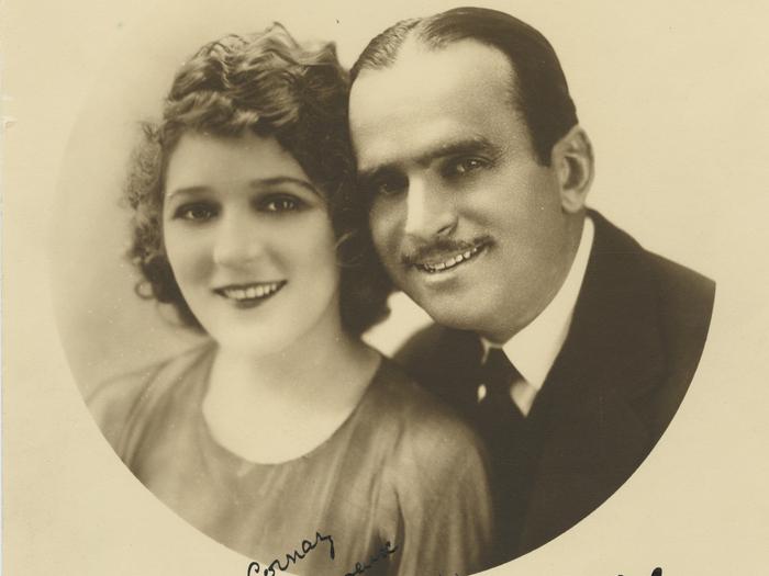 Photo dédicacée de Mary Pickford et Douglas Fairbanks