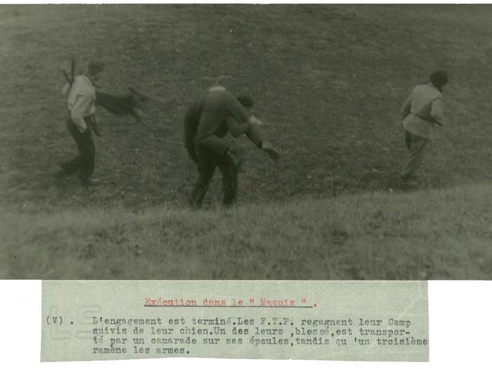 Photographie mise en scène d'exécution dans le maquis - Chris Marker