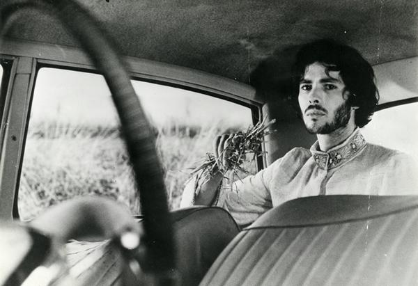 Pierre Clémenti sur le tournage de La Voie lactée (Luis Buñuel, 1969) par Jean Distinghin © D.R.