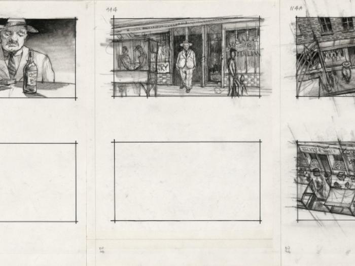 Planche du storyboard du Parrain 2