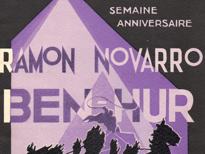 Programme pour le premier anniversaire de l'exploitation du film « Ben-Hur » au Cinéma Madeleine (1927)