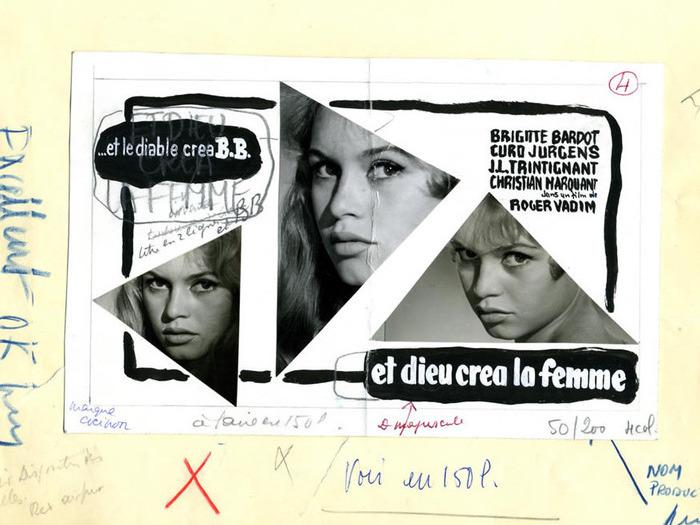"""Projet de maquette publicitaire pour """"Et Dieu...créa la femme"""""""