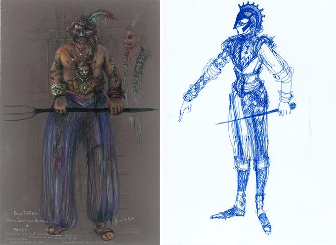 Projets pour «Deux Frères» (Jean-Jacques Annaud, 2003) et «Roméo et Juliette» (Petrika Ionesco).© ADAGP