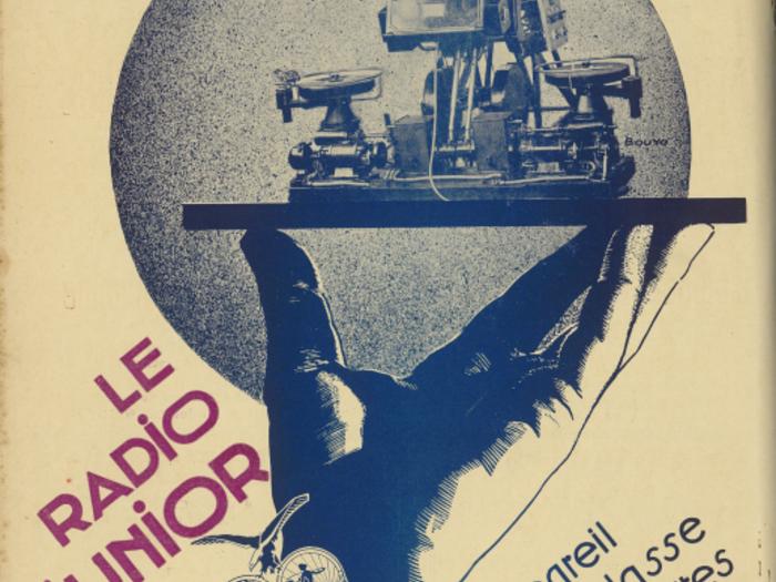 Publicité pour le radio junior Gaumont dans La Revue de l'écran n°50 du 5 avril 1931